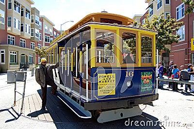 San Francisco Trolley Editorial Stock Photo