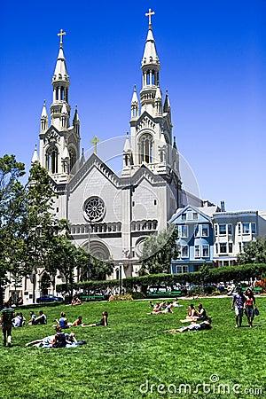 Free San Francisco Washington Square Park Stock Photography - 36837082