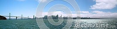 San Franciscoa Bay Bridge and Cityscape