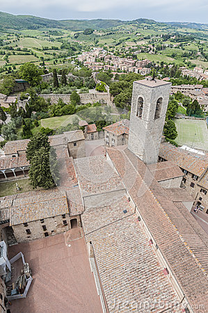 San Gimignano general view in Tuscany, Italy
