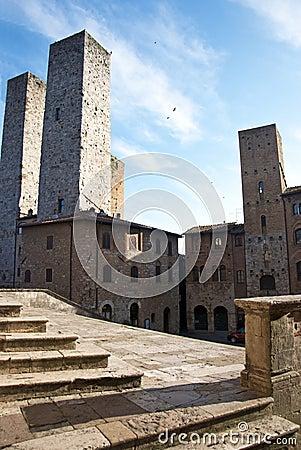 San Gimignano towers - Tuscan italy