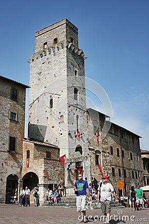 San Gimignano Tuscany Editorial Stock Image