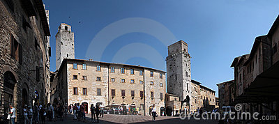 San Gimignano in Tuscany, Italy Editorial Photography