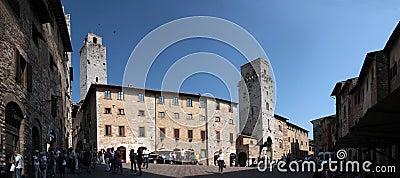 San Gimignano in Tuscany, Italy Editorial Photography