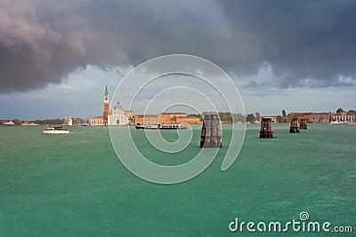 San Giorgio Maggiore in Venice Summer Rain