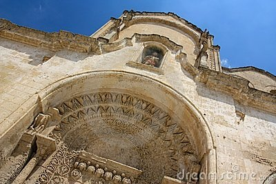 San Giovanni Battista church in Matera, Italy