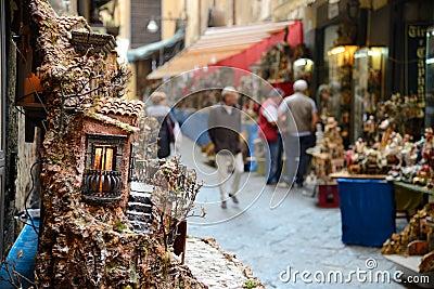 San gregorio armeno in Naples Italy Editorial Stock Image
