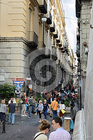 San gregorio armeno in Naples Italy Editorial Image