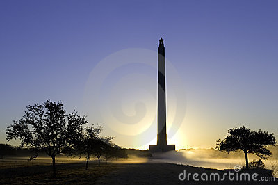 San Jacinto Monument at Dawn