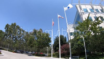Paypal gate in San Jose. San Jose, California, United States - August 12, 2018: gate of Paypal Headquarters in Silicon Valley. Paypal corporation provides a stock video footage