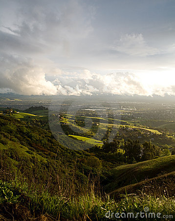 San Jose and Hills After Storm