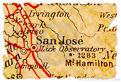 San Jose old map