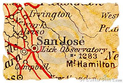 San Jose old map