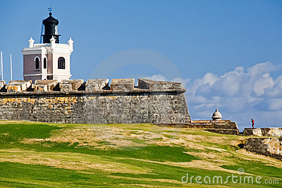 San Juan - El Morro Castle Lighthouse Editorial Photo