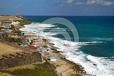 San Juan Looking Along the Coast to El Morro