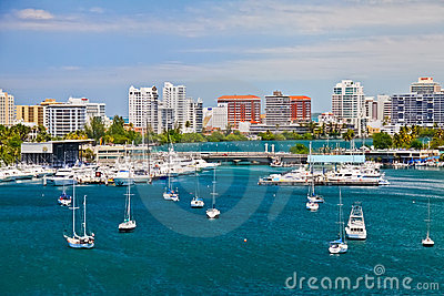 San Juan, PR - Beautiful San Juan Bay Vista Editorial Photo