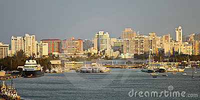 San juan skyline and harbor