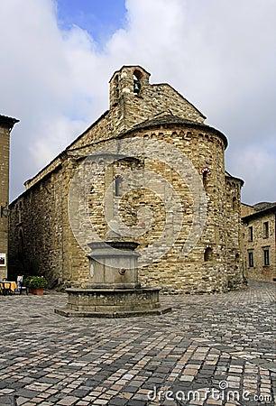 Free San Leo, Italy - September 2014: The Parish Church Of St. Mary Royalty Free Stock Photos - 46120308