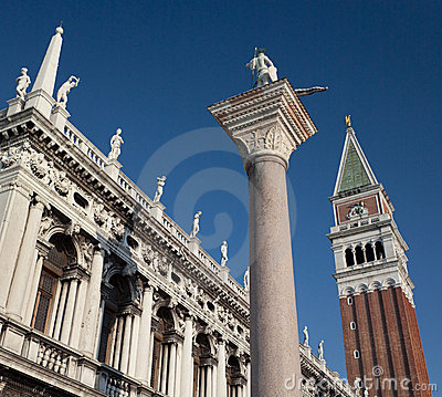 San Marco and Campanile in Venice - Italy