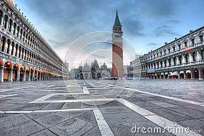 San Marco square at dawn