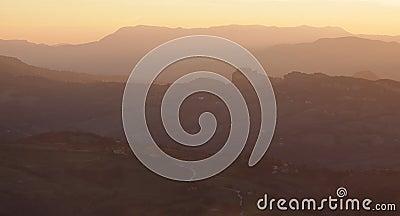 San Marino at Dusk
