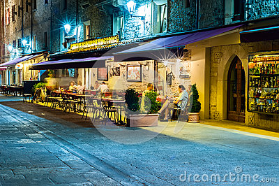 San Marino nightlife Editorial Stock Image