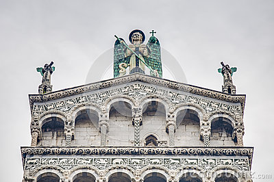 San Michele in Foro, a church in Lucca, Italy.