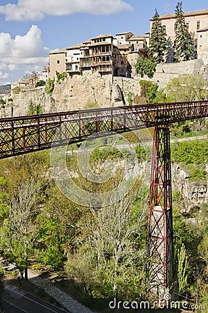 San Pablo bridge and hung houses of Cuenca, Spain