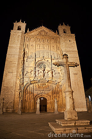 San Pablo Church at night, Valladolid,