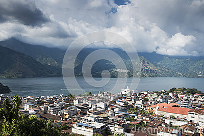 San Pedro and lake Atitlan