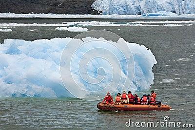 San Rafael Glacier in Patagonia - Chile Editorial Stock Photo