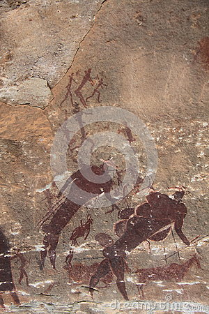 San rock art bushman painting