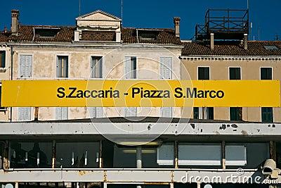 San Zaccaria San Marco waterbus stop in Venice