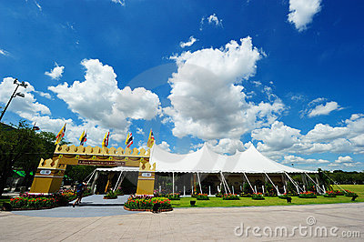 Sanam Luang (The Royal Field) in Bangkok, Thailand