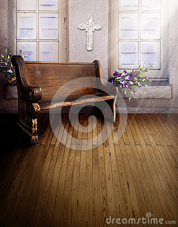Free Sanctuary Church Pew Stock Images - 32089854