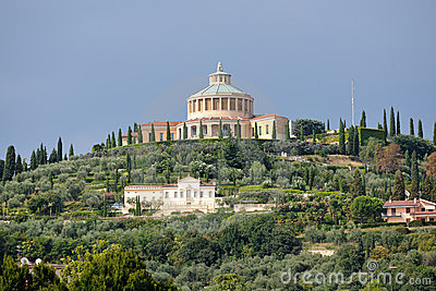 Sanctuary of Madonna of Lourdes, Verona, Italy.