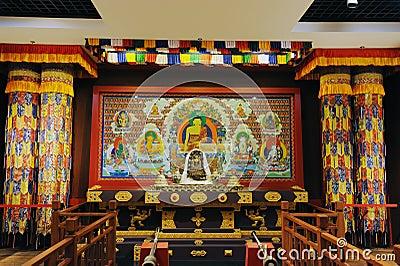 Sanctuary of Tibetan Buddhism Editorial Stock Image