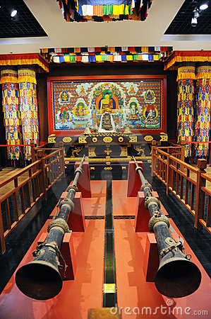Sanctuary of Tibetan Buddhism Editorial Stock Photo