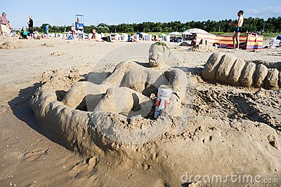 Sand art Editorial Image