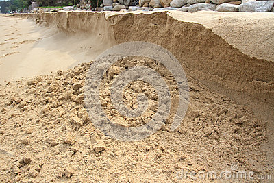 A sand bank
