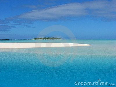 Sand bank near One Foot Island, Cook Islands