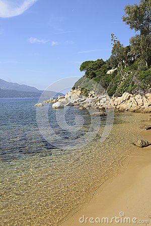 Sand beach at Forno, Elba
