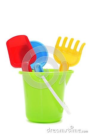 Free Sand-  Beach Toy Set: Pail, Shovel And Rake Royalty Free Stock Photo - 31199495
