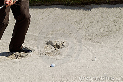 From the sand bunker
