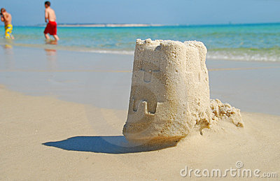 Sand Castle and Children