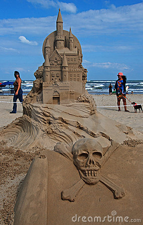 Sand Castle Day on South Padre Island Editorial Stock Image
