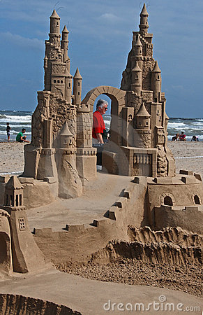 Sand Castle Day on South Padre Island II Editorial Stock Image