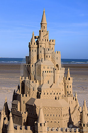 Sand Castle in Jersey Editorial Photography