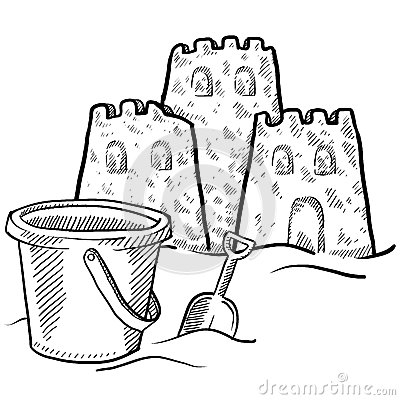 Stock Images Sand Castle Vector Image24689874 on Beach Style House Design