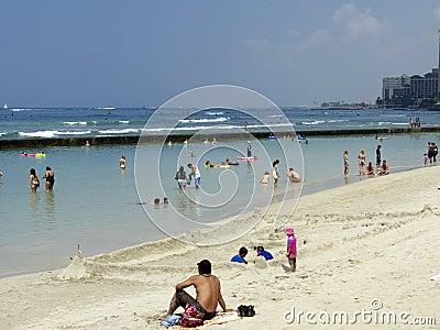 Sand Castle Waikiki Editorial Stock Photo